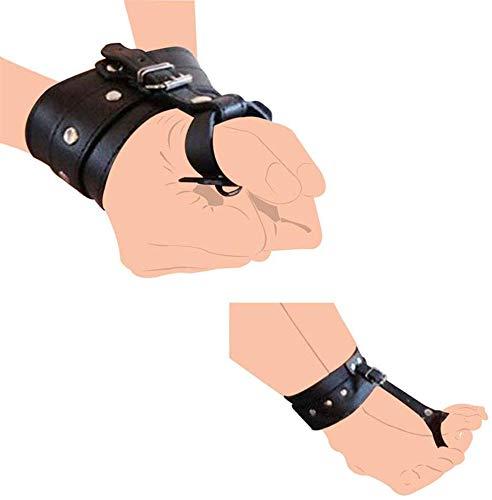 ABSM-L Damen PU Leder Hand Handgelenk Daumen Manschetten SM Bondage Gürtel Knöchel Handgelenk Hogtie Gurt Mit Zehenfesseln Sex Cosplay Spielzeug