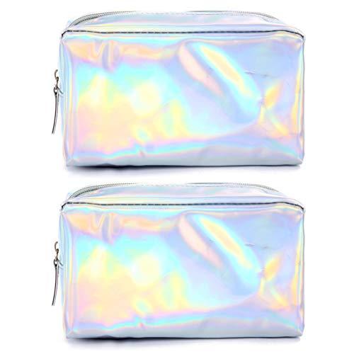Outgeek 2 STKS Make-up Bag Pen Bag Draagbare Vierkant Multifunctionele Toilettas Koppeling Portemonnee voor Vrouwen