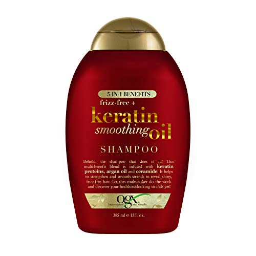 Frizz-Free + Keratin Smoothing Oil Shampoo, 5 in 1, for Frizzy Hair, Shiny Hair