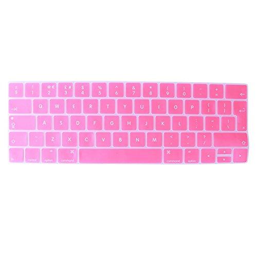 Uonl Protective KeyPad Membrane Rainbow Keyboard Samsung Keyboard Language Keyboard Skin for MacBook 13/15Touch Bar (English) European Version (Pink)