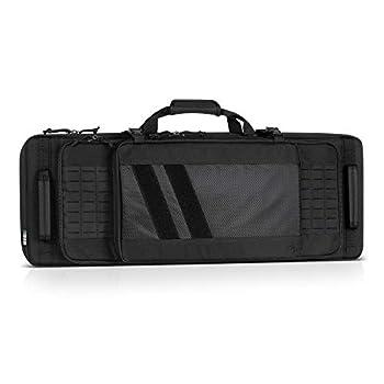 Savior Equipment Specialist Series 42  Discreet Tactical Double Carbine Long Rifle Bag Gun Case Firearm Backpack 4 Pistol Handgun Case Lockable Zippers Padded Drag Handles Adjustable Shoulder Strap