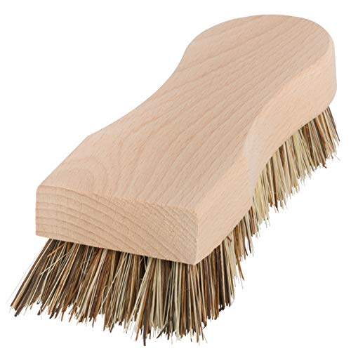 Redecker Union Brosse à récurer en fibre avec manche en bois de hêtre non traité 16,5 cm