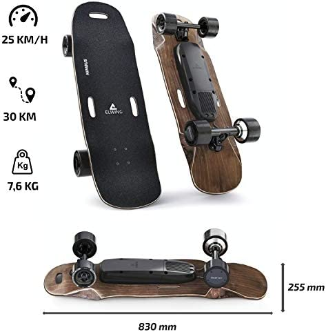 Elwing Boards - Skateboard Électrique Modulable - Powerkit Nimbus - Moteur Simple ou Double - Batterie Standard ou Longue Durée - IP65 Étanche Eau et Poussière - Conçu en France