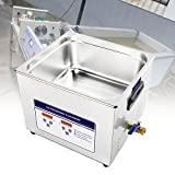 BIWASimple Stainless Steel Plate Ultrasonic Cleaning Machine, Ultrasonic Jewelry Cleaner with Digital Timer Heater, for Jewelry Watch Glass Circuit Board