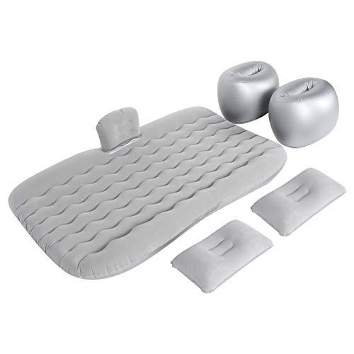 Ruisyi Colchón inflable para coche, kit de colchón cama y cojines inflables para coche con inflador, colchón para exterior, casa, camping, coche (gris)