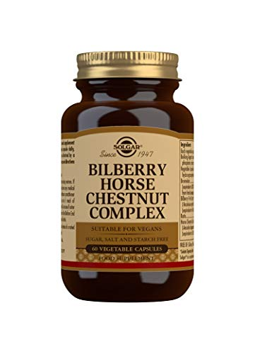 Solgar Bilberry Horse Chestnut Complex Vegetable Capsules - Pack of 60
