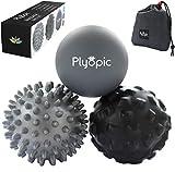 Plyopic Bolas de Masaje – (Set de 3 Massage Balls) – para Automasaje, Liberación Miof...