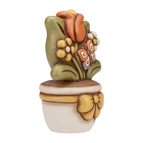 THUN - Vasetto Decorativo con Tulipano - Soprammobile - Accessori per la Casa e Bomboniere - Formato Grande - Ceramica - 25 h cm