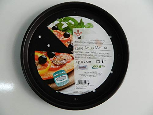 Moule à Pizza perforé Acier revêtu Anti-adhésif. 31 cm