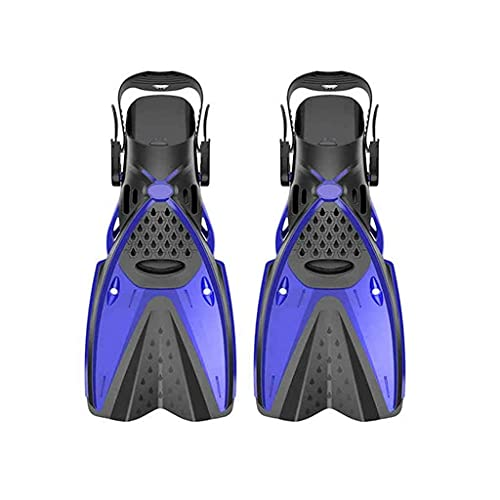 New Scuba Diving Boots Silicone Water Swim Fins Adult Deep Diving Frog Shoes Flippers Snorkeling Supplies Diving Equipment (Color : Blue, Size : Large-L/largeXL)