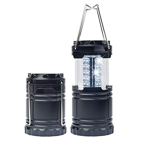 melianda Unisex Erwachsene Ma-4010 Campinglampe Led Laterne, Schwarz, Set 2 EU