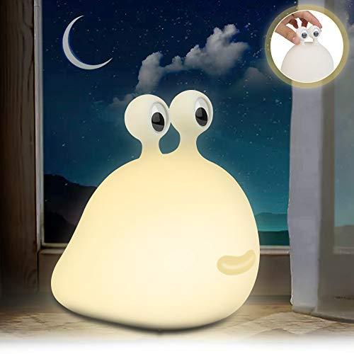 Luz Nocturna LED para Niños, Silicona Lámpara de Mesita de Noche Bebé, Recargable USB Lámparas para leer & dormir y relajarse, para Dormitorio, Salón, Amigas, Regalo