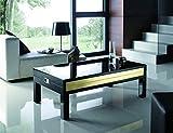 Zadise mi mueble online Mesa de Centro | Estilo Moderna |Medidas 110 X 60 X 40 cm. | Elevable | Lacada |Funcional y Práctica Revistero Interior | Guia Telescópica de Acero