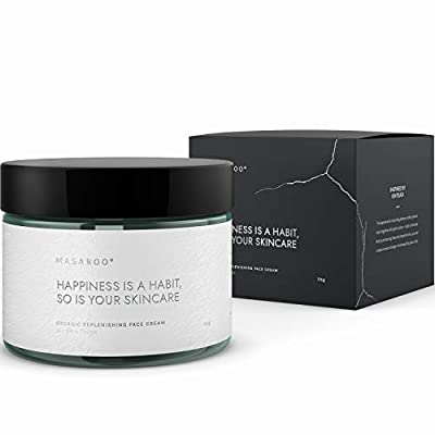 Replenishing Organic Face Cream: Anti-aging Face Collagen Cream with vitamin A, E, C - 100% Natural Face Moisturiser for Women and Men - Day and Night Cream for Mature Skin. For All Skin Types. 50ml from Masaroo