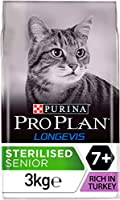 PURINA PRO PLAN STERILISED Senior 7+ Years with LONGEVIS is a complete and balanced dry food for sterlised/ cats 7+. Contains LONGEVIS for longer, healthier life, a patented formulation proven to extend healthy lifespan and improve quality of life ou...