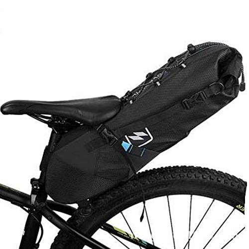 JOWBCB Waterdichte Fietszadeltas, Staartzak, Zitzak met reflecterend logo, Grote capaciteit, slijtvast, Lichtgewicht, Geschikt voor alle soorten fietsmodellen