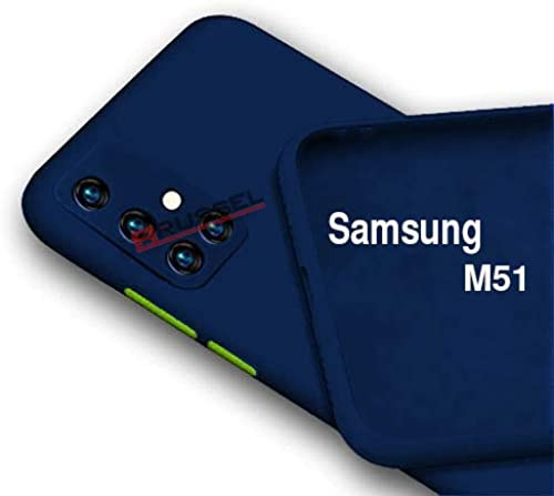 BRUSSEL Samsung M51 Back Cover Case Soft Matt Silicon Cover Shockproof And Camera Protection Case Cover For Samsung Galaxy M51 Nevi Blue
