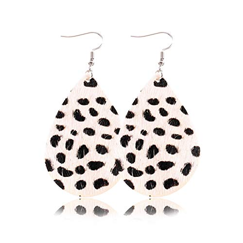 Presock Pendientes Mujer,Aretes Boho PU Leather Teardrop Dangle Earrings For Fashion Multicolor Leaf Statement Water Drop Earring Party Jewelry Wholesale 7