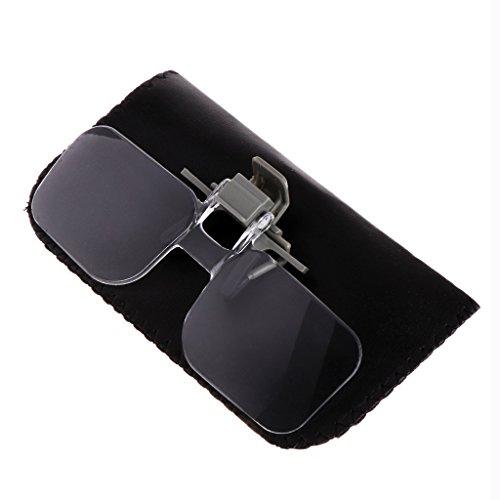 SHOTAY 2X Estilo de Gafas Lupa Lupa con Clip para Leer
