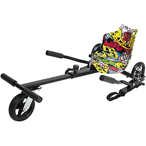 Hoverkart Seggiolino Go-Kart Hoverkart per Hoverboard, Compatibile con Hoverboard per Scooter con Autobilanciamento da 6,5/8/10', Lunghezza Regolabile