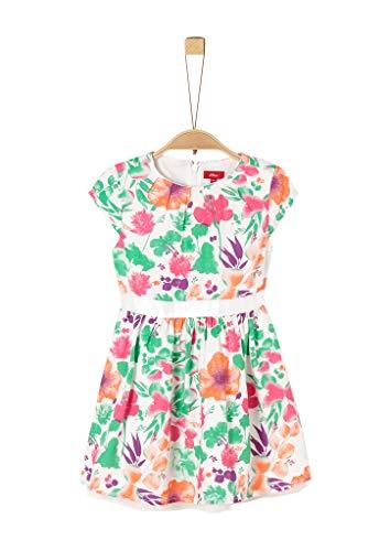 s.Oliver Junior Mädchen Kleid für besondere Anlässe, 02b3 Creme Aop, 122/REG