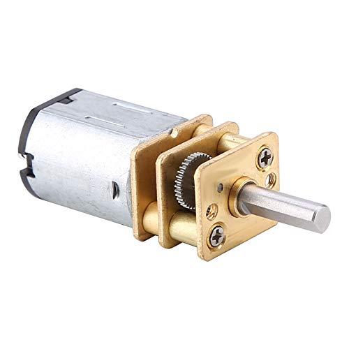 Motor de reducción de velocidad DC con caja de engranajes metálicos, motor de engranajes de metal DC 6V-12V