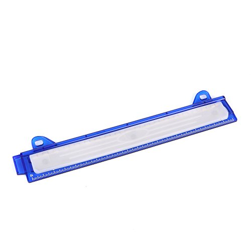 Eagle Ring Binder 3 Hole Punch, with Chip Tray, Built-in Ruler, Fit for Standard 3 Ring Binder (Blue)