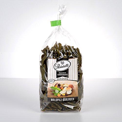 Pastatelli Bärlauch Waldpilz Nudeln - Bärlauchnudeln mit Waldpilzen - Gewürznudeln mit getrocknetem Bärlauch und Pilzen - Mit Butterpilze Steinpilze