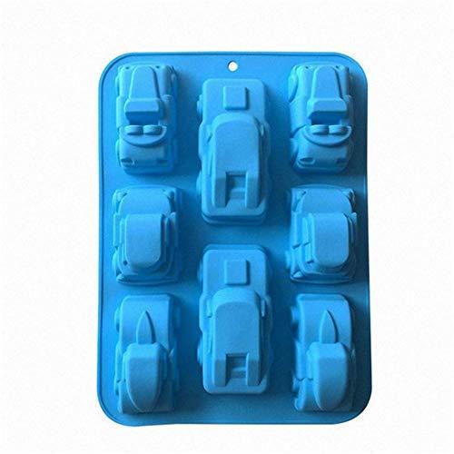 MKNzone 1 Moldes de Silicona DIY, Tartas, Chocolate - Forma del Coche, Entrega de Color Aleatorio(29 X 17 X 5 cm)