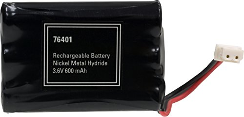 Power Gear Rechargeable Cordless Phone Battery, 3.6V, 600mAh Battery Pack, Nickel Metal Hydride, Cordless Phone Handset Compatible, 76401 (76401999)