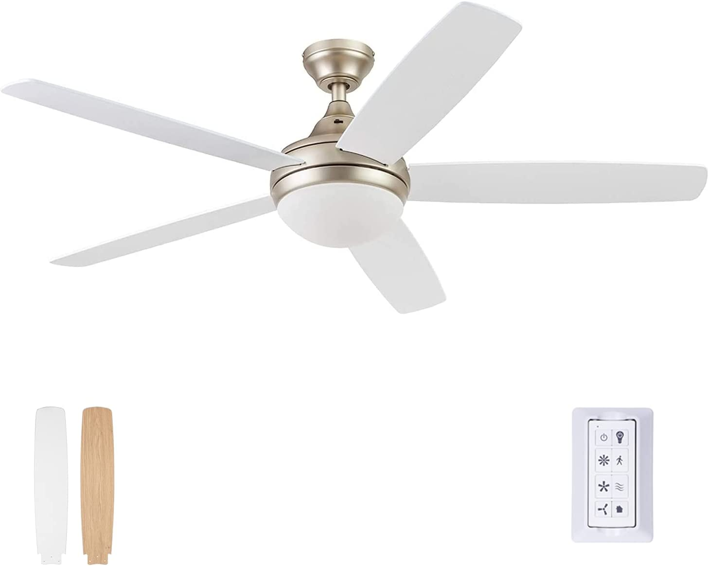Prominence Home 51474-01 Ashby Ceiling Fan, 52, Champagne
