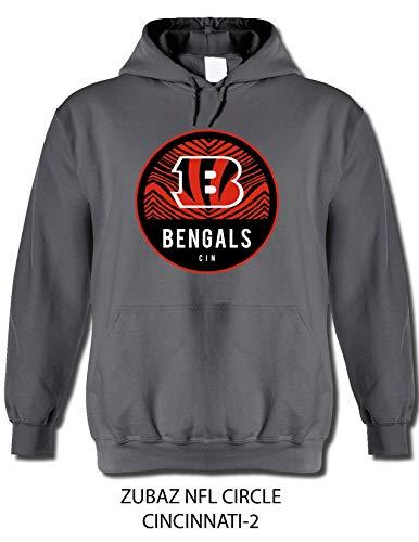 NFL Cincinnati Bengals Men's Team Graphic Gray Hoodie, Gray, Medium