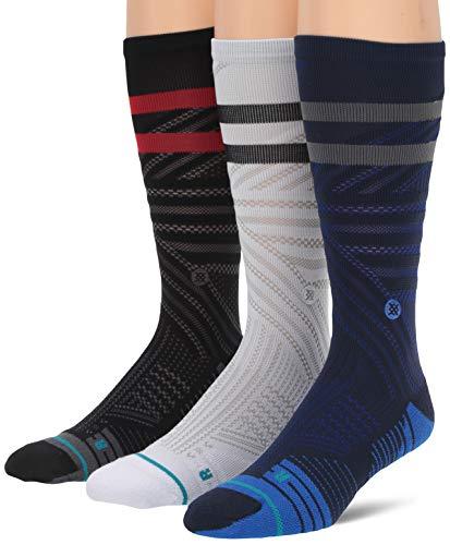 Stance Lot de 3 paires de chaussettes Train Crew pour homme XL multicolore