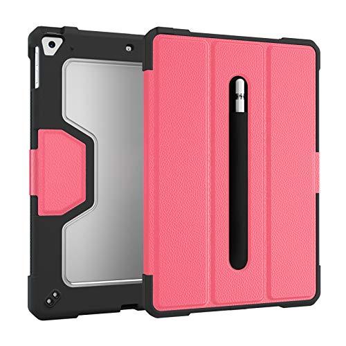 QGGESY Fundas duras para Tablets,Plegable Soporte Protectora TPU Cubierta con Portalápiz(Auto-Sueño/Estela), Adecuado para2020 2019ipad 10.2/iPad Pro 10.5/iPad air3 10.5,Pink,iPad Pro 10.5