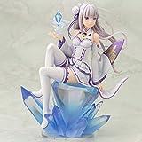 SGOT Re:Zero Figur, Emilia Figur, Kawaii Anime Girl Modell, Vinylfigur Actionfigur Sammelfigur 17cm