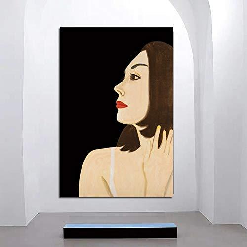KWzEQ Modernes Bild des berühmten Malers Klassische Tapete Frau Leinwand Kunstplakat Wohnzimmer Hauptdekoration,Rahmenlose Malerei,80x120cm