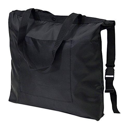 achilles Kinderwagen-Tasche mit Befestigungsschnallen Gehwagen-Tasche Wickel-Beutel mit Stroller-Bag Baby-Tragetasche Rollator-Tasche Schwarz 47 cm x 37 cm