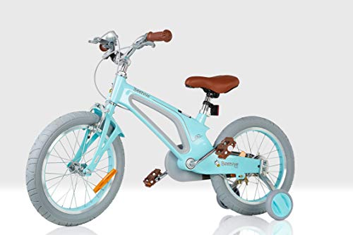 Beehive Vintage Blue Aluminium Childrens Bicycle with Stabilisers Brakes and...