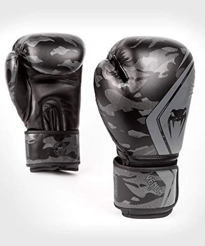 Venum Defender Contender 2.0 Boxhandschuhe, Schwarze/Schwarze, 8 oz