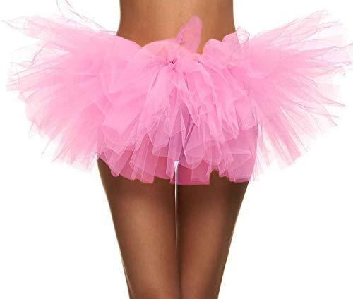 Pink Tutu Women Retro 5 Layered Ballet Warrior 5K,...