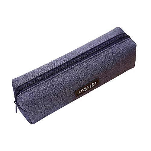 おしゃれペンケース シンプル 鉛筆袋 筆箱 大容量 便利 軽量 小学生 中学生 高校 生 にぴったり 男女兼用 3色オプション (ダークブルー)