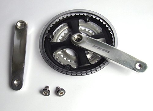 Suntour Unisex– Erwachsene Kurbelgarnitur-2222817010 Kurbelgarnitur, Silber, 170mm