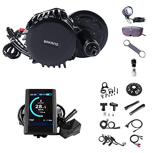 BAFANG BBS02B 750W 48V Ebike Motor with LCD Display 850C T44 Chainring Mid Drive Electric Bike Conversion Kits