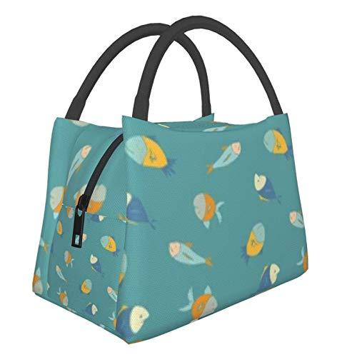 Bolsa de almuerzo portátil con aislamiento fresco (patrón de colores lindo divertido) 8.5L