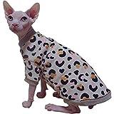 ZHIHAN Ropa para Gatos Sphynx Gato sin Pelo más suéter de Leopardo de Terciopelo, Color 1, M