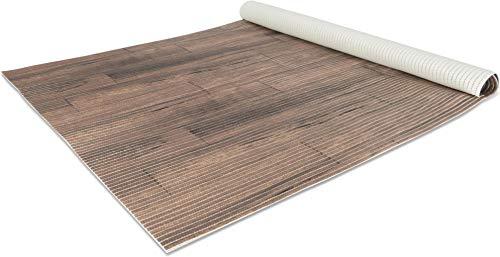 65 oder 130 cm breiter Badvorleger / rutschfeste Matte / Bodenbelag aus PVC Weichschaum,wasserabweisend und rutschhemmend für Bad, Dusche oder Küche Farbe Walkway Oak Größe 130 cm x 300 cm