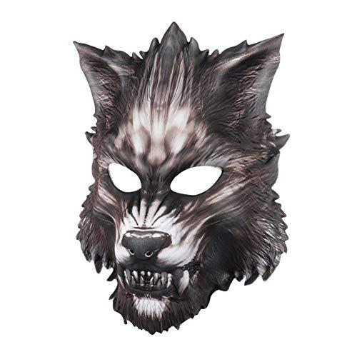 Mscara de Halloween para adultos, mscara de lobo aterrador