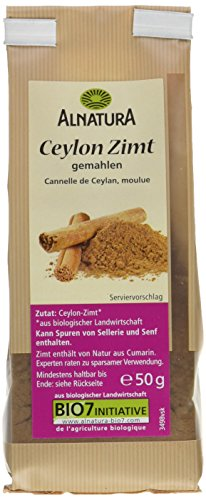 Alnatura Bio Ceylon-Zimt, gemahlen, 7er Pack (7 x 50 g)