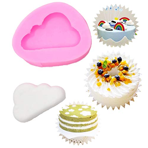 Cake Molds – 1 stuks siliconen mold cake decoratieve clouds Shape pastry baking chocolade soap Easy Demoulding M – Molds Mermaid Kids Alphabet Cake Decoratie Square Heart Women Circle Number Shape