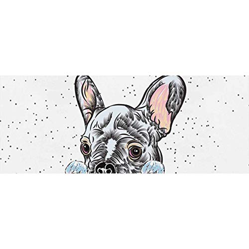InterestPrint French Bulldog Pet Dog Gift Wrapping Paper 58'x 23' for Birthday, Mother Day, Valentine's Day - 3 Rolls